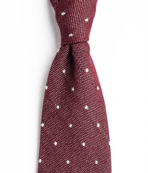 UNTIPPED CASHMERE burgundy TIE
