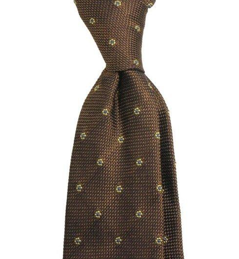 brown grenadine 3-fold tie