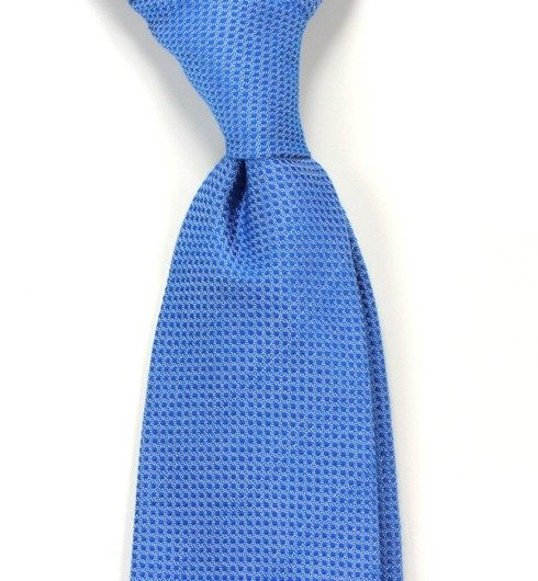 untipped cotton&silk tie