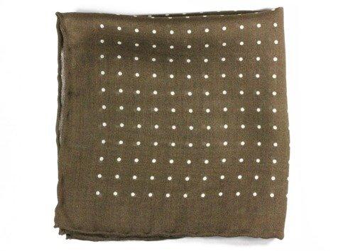 wool & silk polka dots pocket square