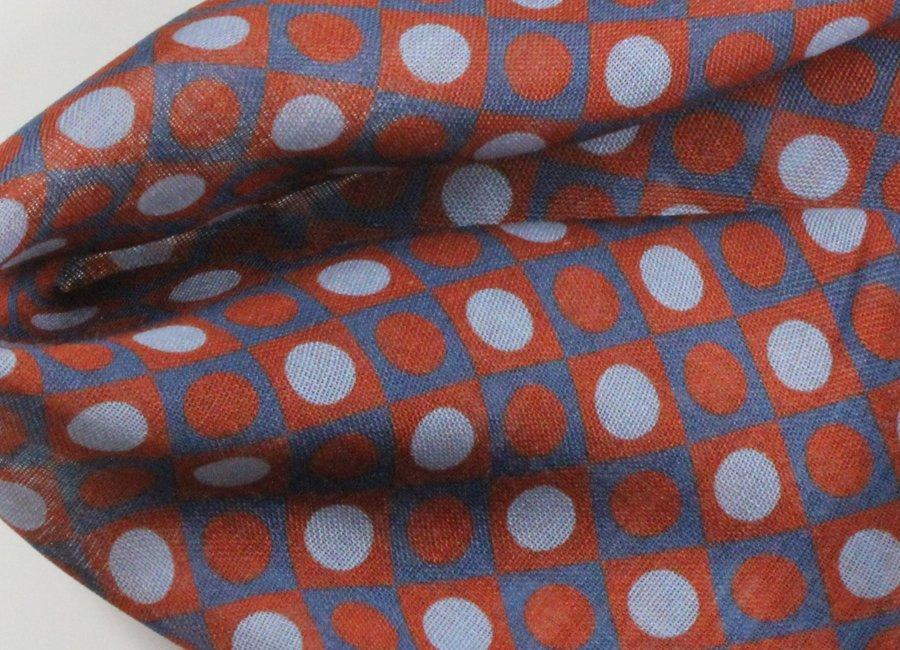 wool & silk geometric pocket square | POCKET SQUARES \ WOOL POSZETKI \ wełna | Sklep Poszetka ...