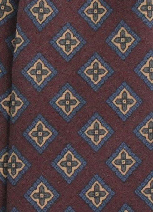 burgundy ANCIENT MADDER SILK tie