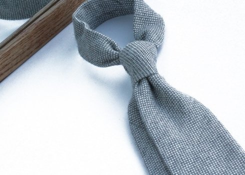 grey cashmere untipped TIE