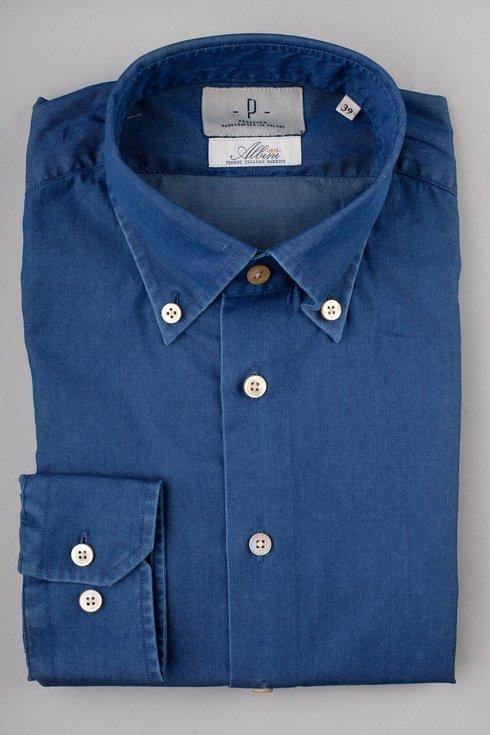 BD collar denim Albini shirt