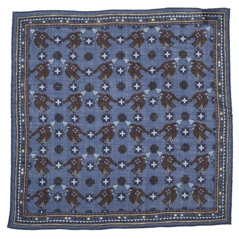 BLUE macclesfield pocket square