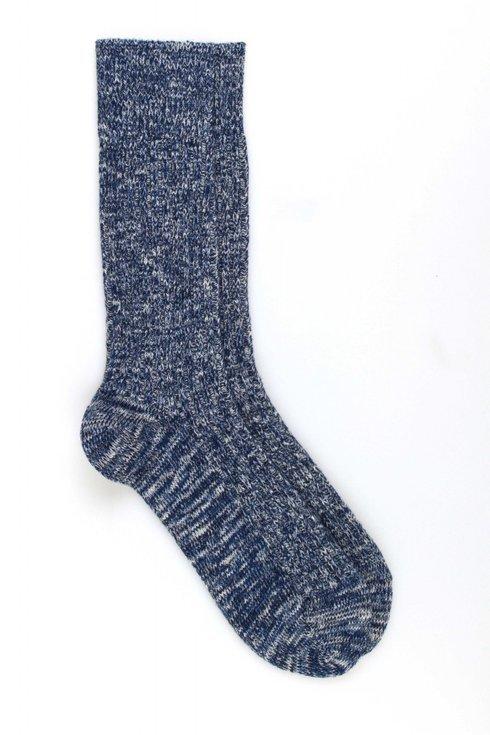 Blue Ribbed Socks / Pedemeia