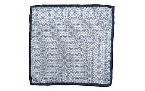 Cotton-Silk Mosaic Pocket Square