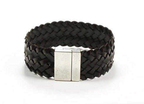 DARK BROWN Leather bracelet