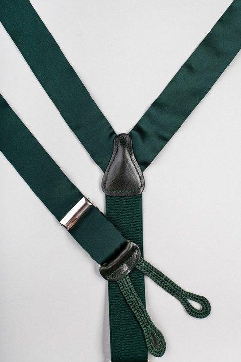 Green Macclesfield silk BRACES