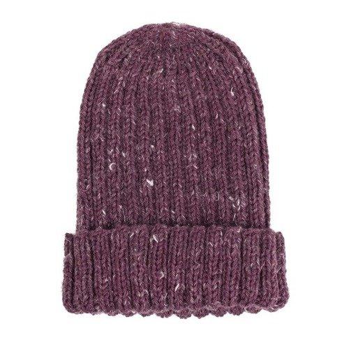 Hand-knit burgundy beanie