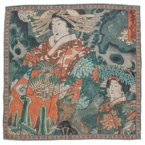 "Japanese collection, Kunisada Utagawa, ""Oiran and Kamuro"""