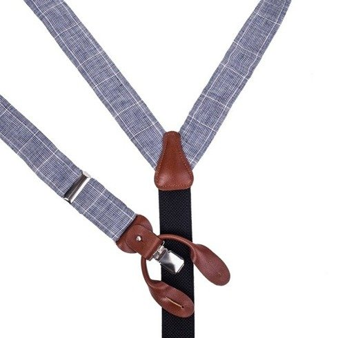Linen BRACES 3,5 CM CLIPS & BUTTONS