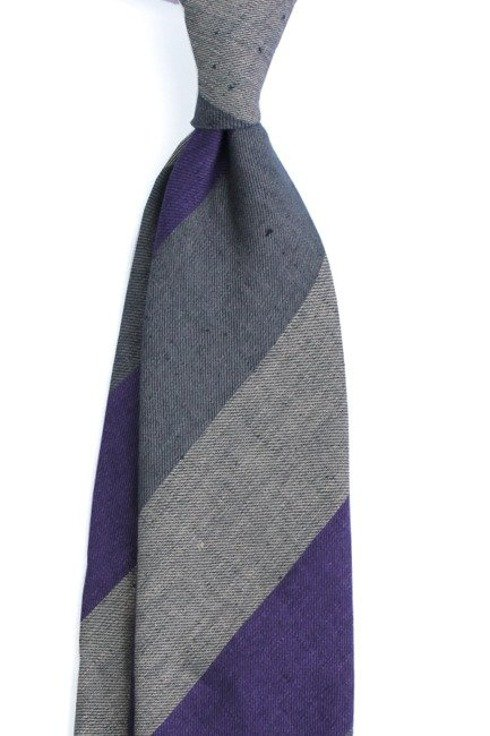 Linen grenadine self-tipped tie