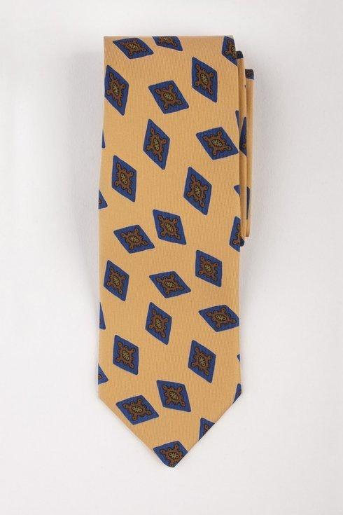 Macclesfield tie yellow with diamonds