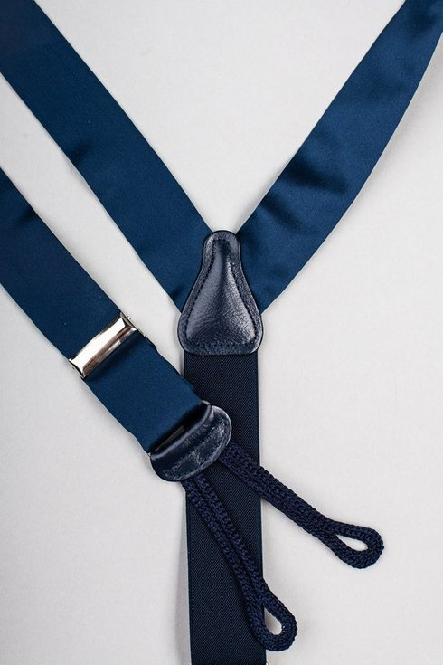 Navy Macclesfield silk BRACES