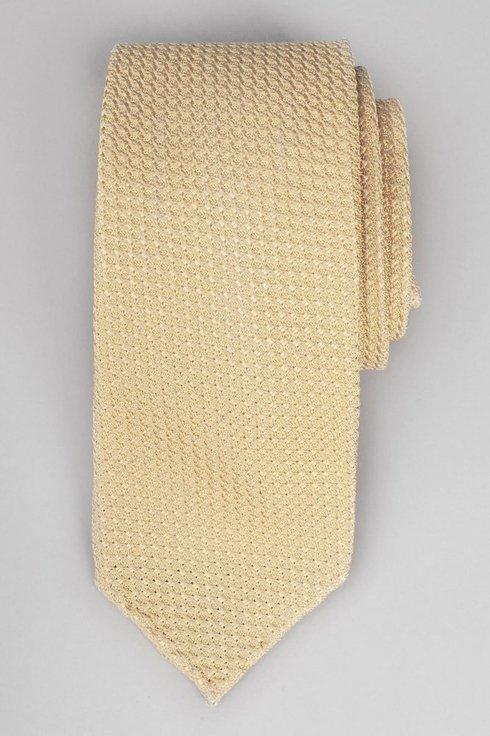 Pastel- yellow grenadine untipped tie