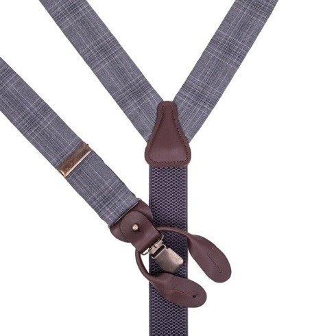 PoW woolen BRACES 3,5 CM CLIPS & BUTTONS