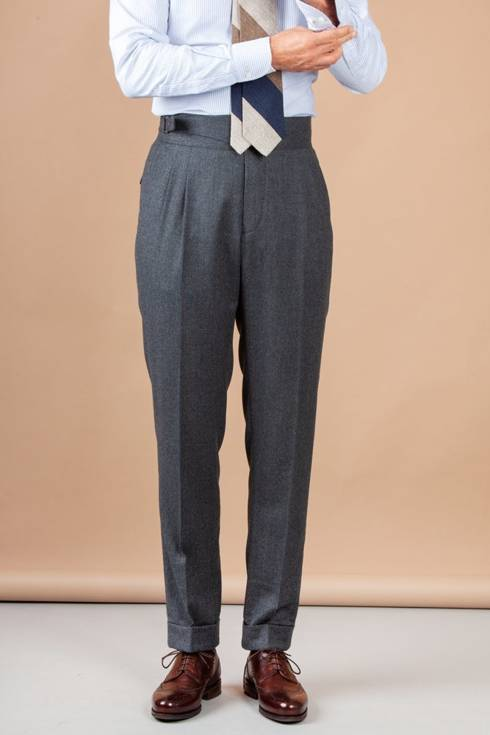 """Preorder: Grey gurkha trousers """"Alfred"""""""