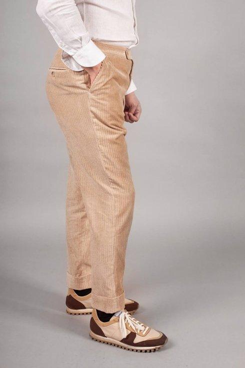 Preorder: beige linen corduroy trousers