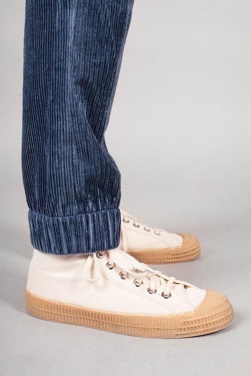 Preorder: blue linen corduroy trousers
