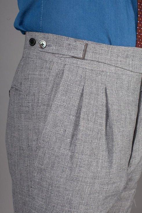 Preorder: gray linen trousers 'John'