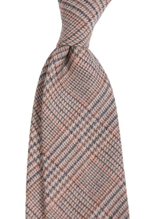 Prince of Wales UNTIPPED CASHMERE  TIE