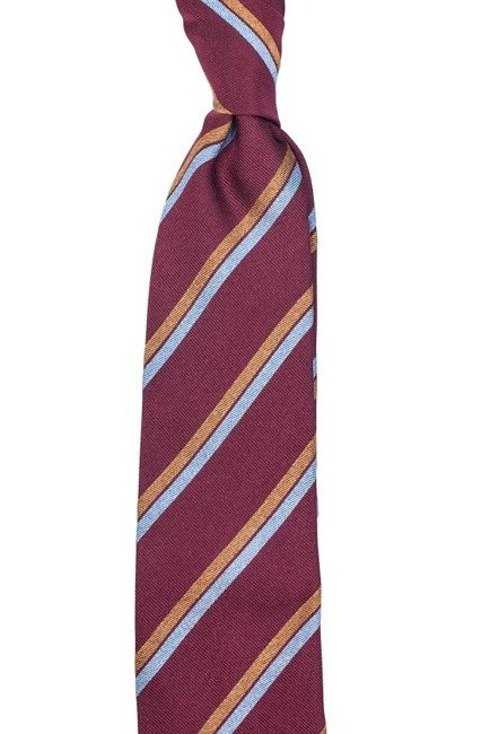 Silk Raspberry red regimental tie