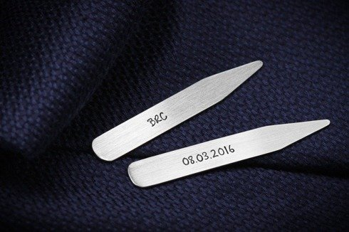 Silver Collar Stays Delicately Mat