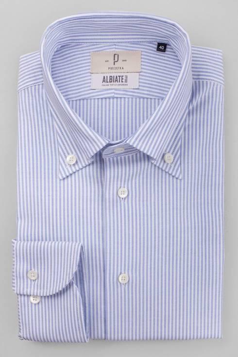 Sky blue stripe OCBD shirt