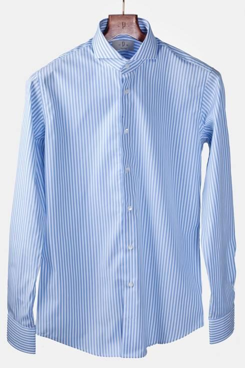 Striped shirt with spread collar Albini