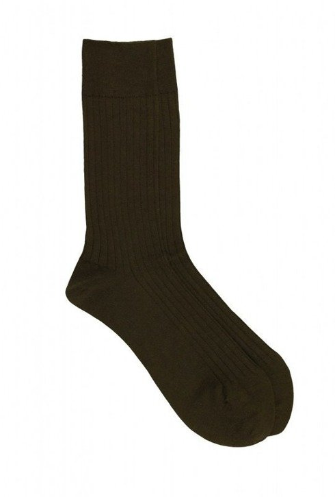 Superwash Merino Wool Fluted Socks Men / Pedemeia