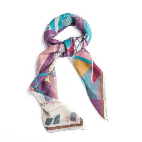 Wool and Silk SILESIA scarf 100 cm
