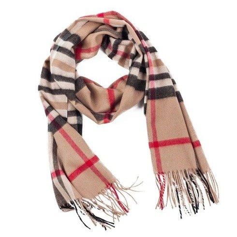 beige cashmere classic scarf