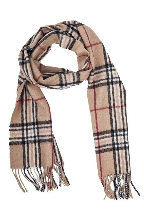 beige cashmere & wool classic scarf