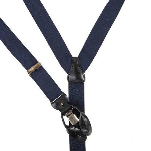 blue navy Macclesfield silk BRACES