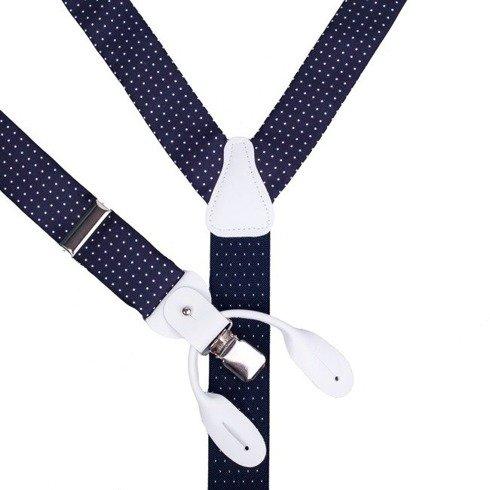 blue navy printed silk BRACES
