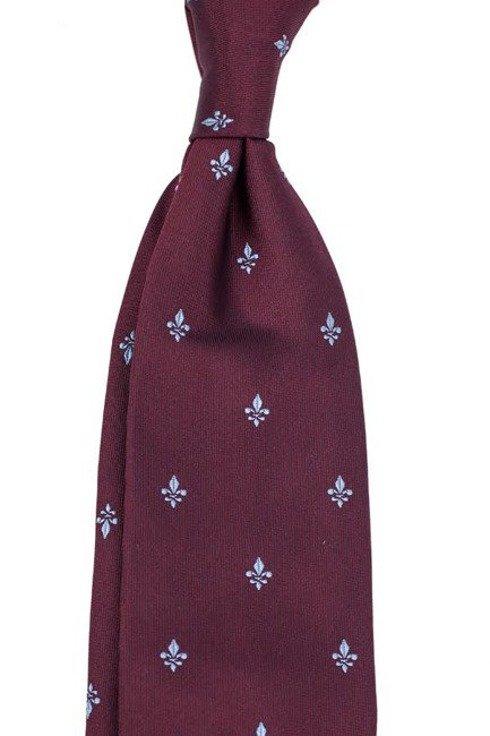 burgundy SIX FOLD TIE with Scout Emblem