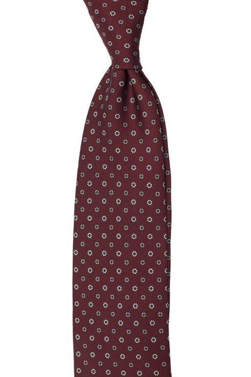 burgundy / red Macclesfield tie