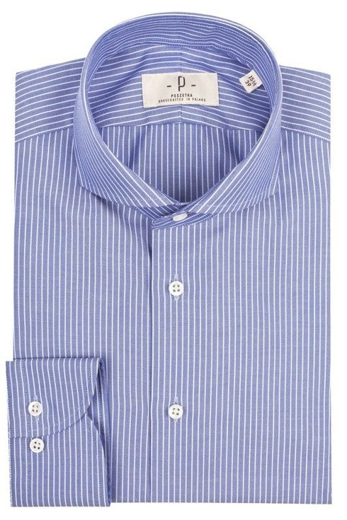 dark blue cutaway collar shirt