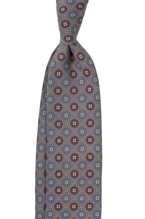 grey ANCIENT MADDER SILK tie