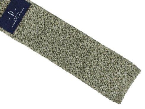linen green knit tie