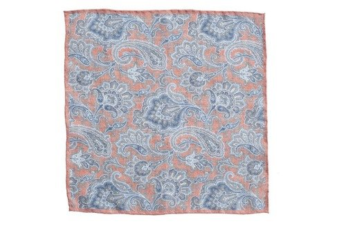 linen pocket square flowers