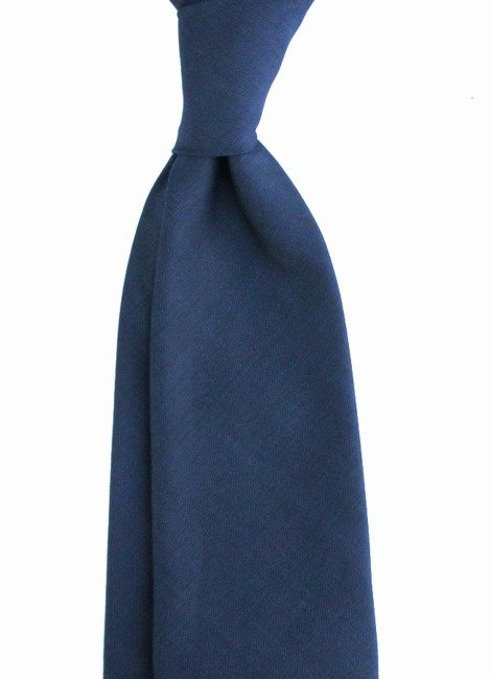 navy black melange UNTIPPED WOOLEN  TIE