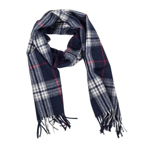 navy cashmere & wool classic scarf