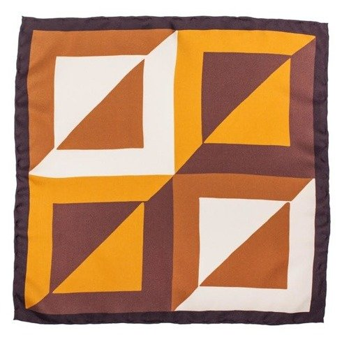 pocket square orange squares