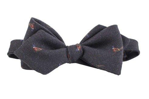 printed Macclesfield woolen bow tie