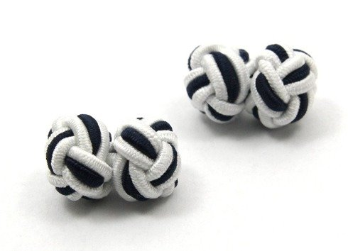 silk knots white and black