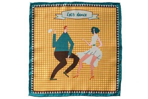 """silk pocket square """"Lets dance"""""""