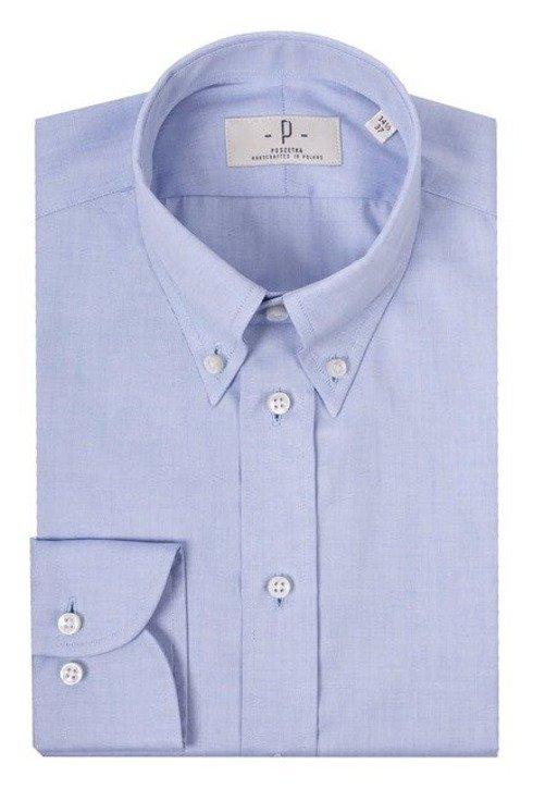 sky blue button down shirt