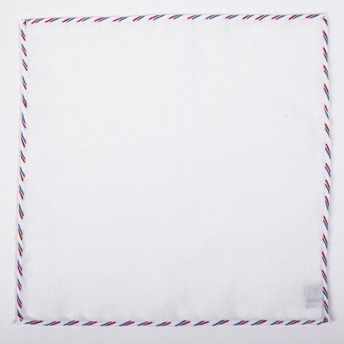 triple thread linen pocket squares – three edge colours (ON JULY 10-28 JULY, WE DO NOT IMPLEMENT ORDERS)